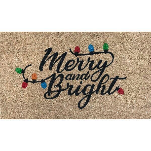 Symple Stuff Rosalyn Merry And Bright 30 In X 18 In Non Slip Outdoor Door Mat Wayfair