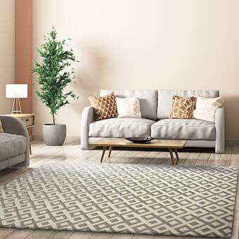 Latitude Run Stepp Hand Tufted Wool Cream Area Rug Wayfair