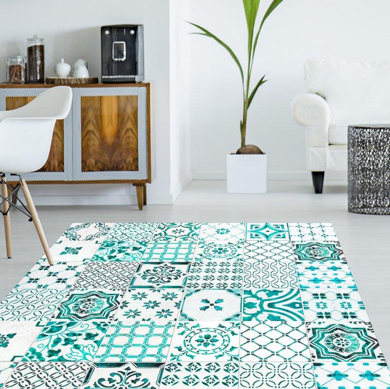 boholiving vinyl teppich miera in hellblau bewertungen. Black Bedroom Furniture Sets. Home Design Ideas