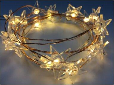 Acrylic Stars 20 Warm Led Light Garland