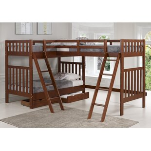 Crescent Twin Over Twin Triple Bed With Drawers by Harriet Bee Herry Up