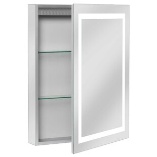 Modern contemporary led medicine cabinet allmodern ponticus 20 x 28 recessed medicine cabinet with led lighting aloadofball Gallery
