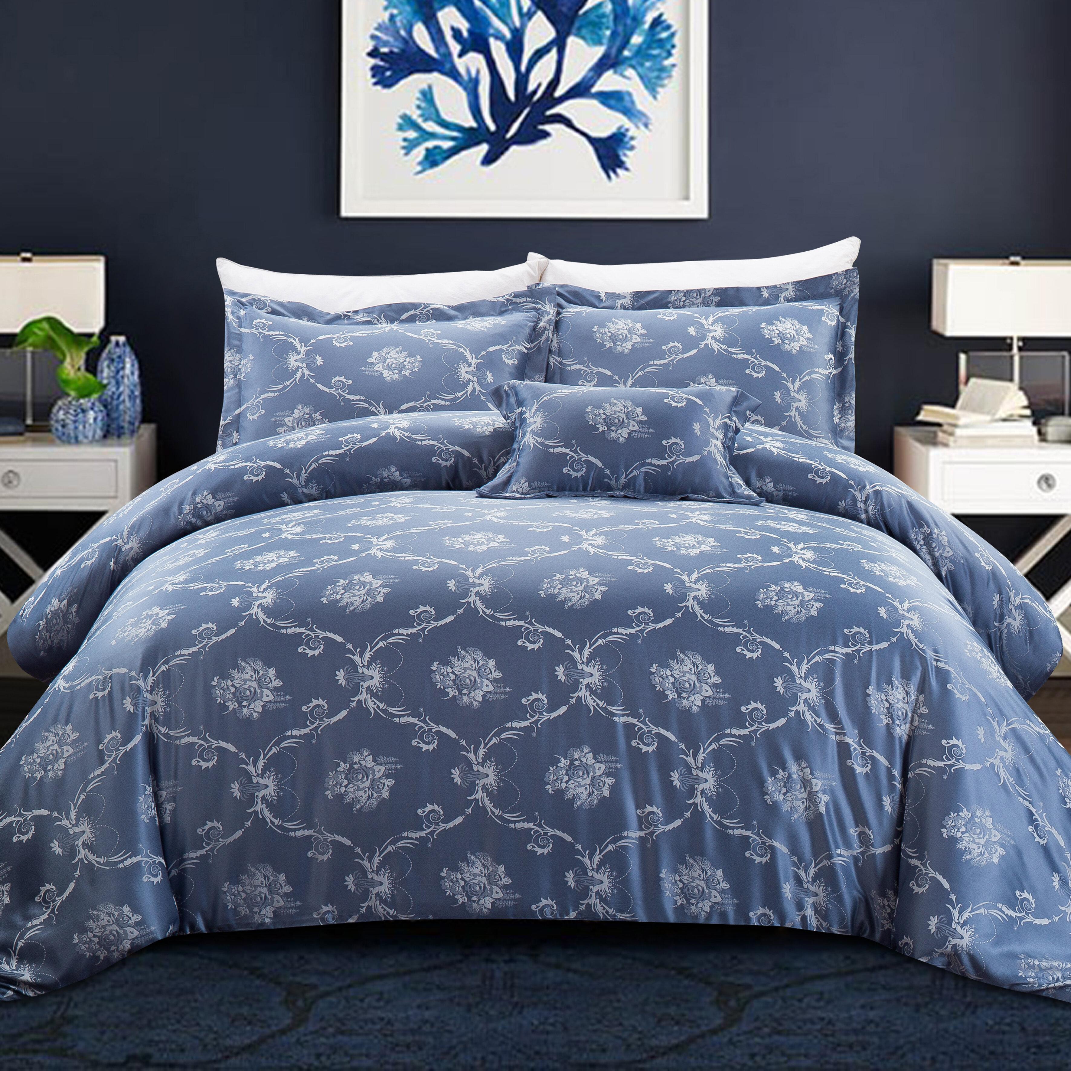 NEW Grandeur Swirls Reversible Printed Bedding Duvet Quilt Set All Sizes