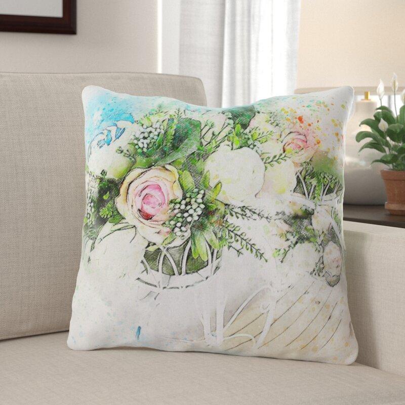 Winston Porter Deblois Flowers Throw Pillow Wayfair