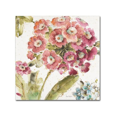"""'Country Bloom IV' Print on Wrapped Canvas Lark Manor Size: 24"""" H x 24"""" W x 2"""" D"""
