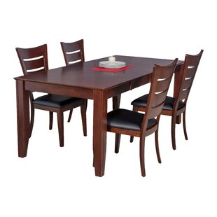 Avangeline Traditional 5 Piece Wood Dining Set
