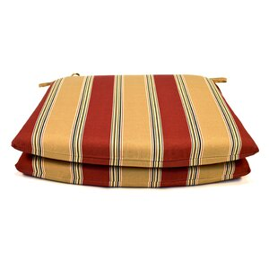 Tapered Outdoor Dining Chair Cushion (Set of 2)