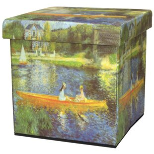 The Seine by Renoir Storage Ottoman by Oriental Furniture