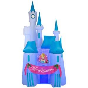 Airblown Projection Kaleidoscope of Cinderella's Disney Castle Scene Inflatable