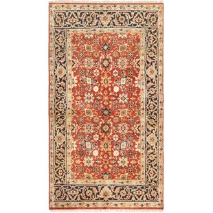 Clearance One-of-a-Kind Kaleigh Hand-Knotted 4'9 x 8'3 Wool Dark Copper/Beige/Black Area Rug By Isabelline