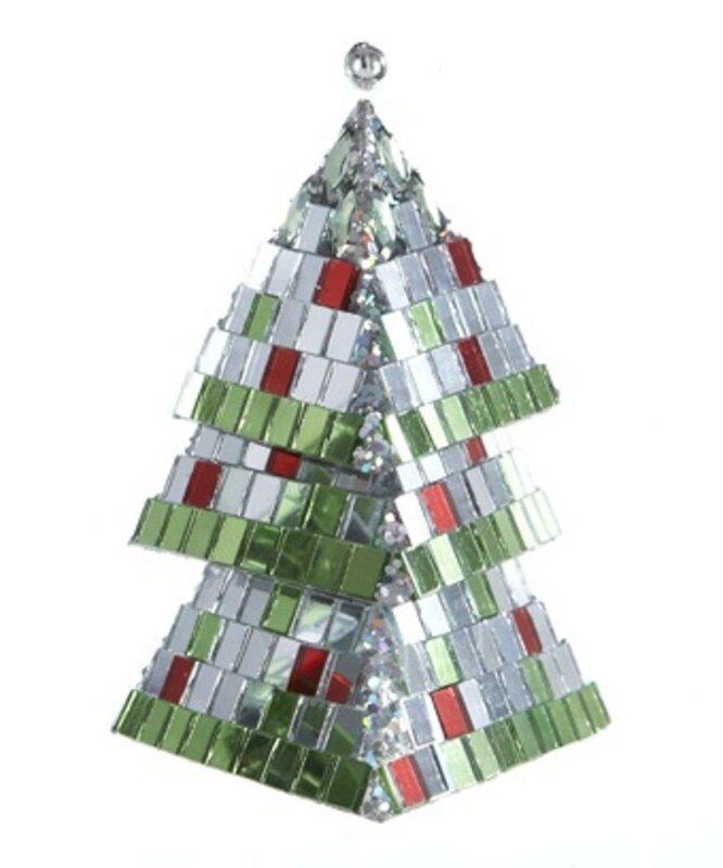 The Holiday Aisle Christmas Brites Mirrored Mosaic Triangular