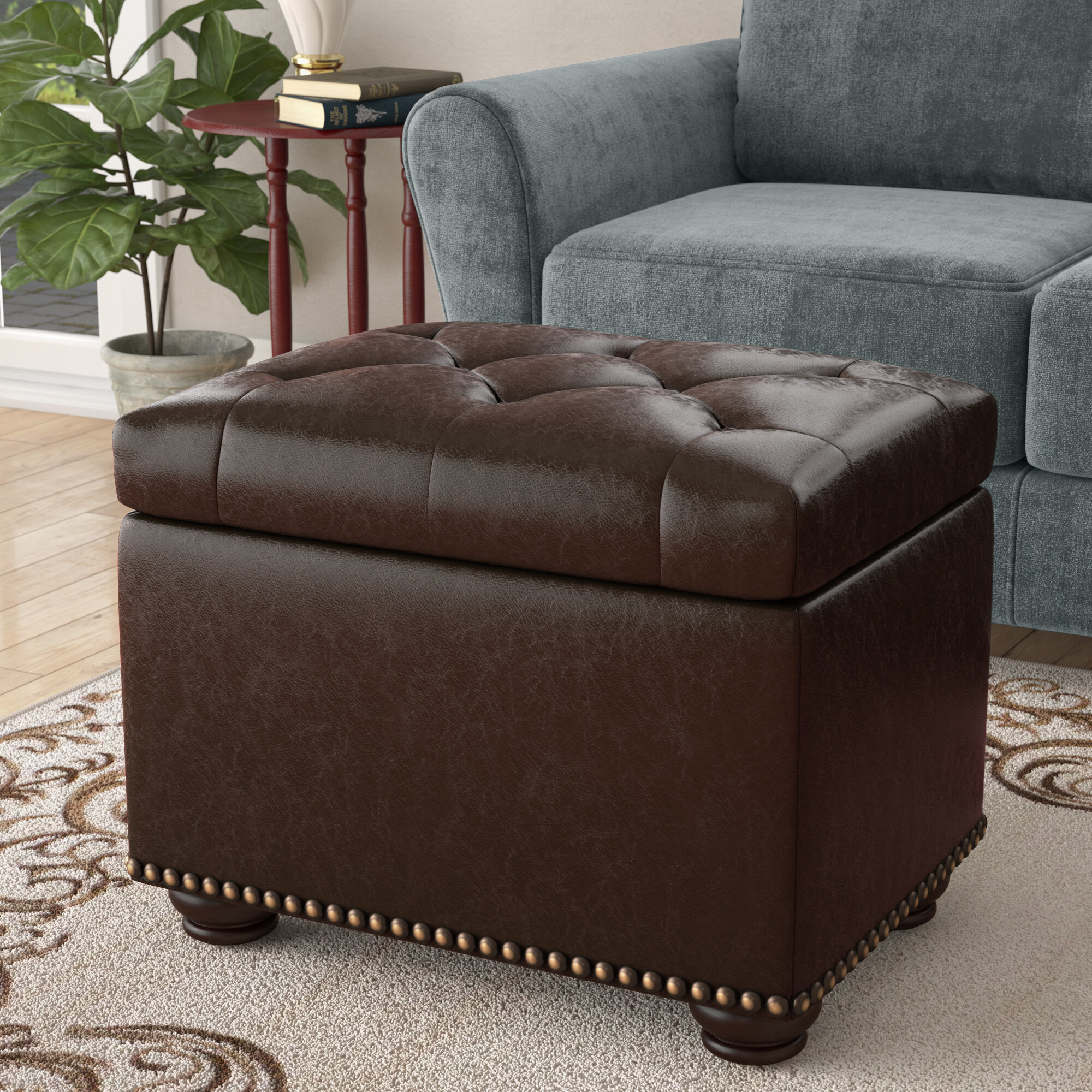 Charlton Home Bernadette Tufted Storage Ottoman Reviews Wayfair