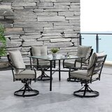 Bozarth 5 Piece Dining Set with Cushions