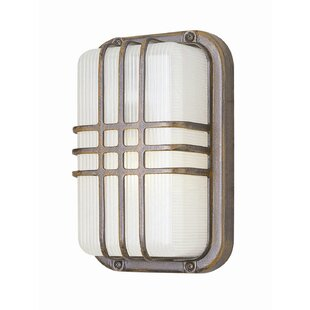 Compare 1-Light Outdoor Bulkhead Light By TransGlobe Lighting