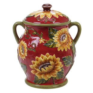 Sunflower 3.62 qt. Storage Jar