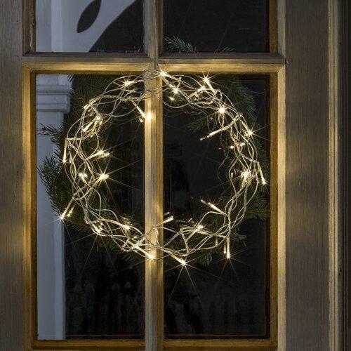 LED-Metallsilhouette Kranz   Dekoration > Dekopflanzen   Silber   Konstsmide