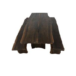 Powley Root 3 Piece Solid Wood Dining Set by Loon Peak