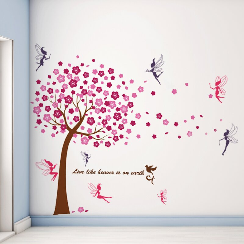 ee7b2f64c5 Harriet Bee Bays Huge Tree Fairies Wall Decal & Reviews | Wayfair