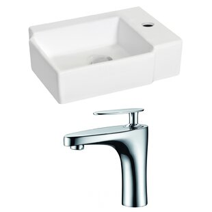 Reviews Ceramic 16.25 Wall Mount Bathroom Sink with Faucet By Royal Purple Bath Kitchen