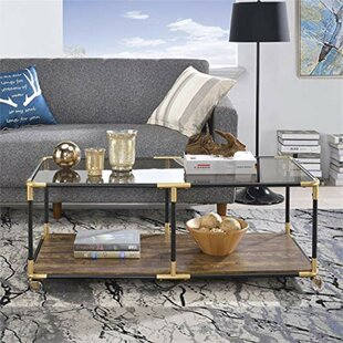 Maconay Metal Frame Coffee Table by Wrought Studio