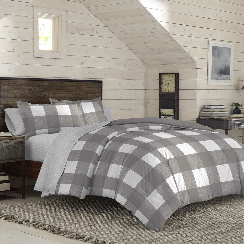 Izod Buffalo Plaid Reversible Comforter Set Reviews Wayfair