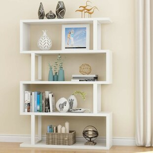 Holroyd 4-Shelf Modern Geometric Bookcase