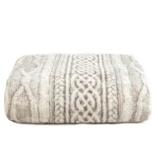 Cable Knit Print Ultra-Soft Plush MicroFleece Blanket