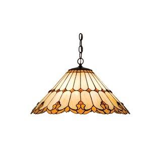 Victorian Tiffany Nouveau 3-Light Bowl Pendant  sc 1 st  Wayfair & Victorian Hotel Pendant Light | Wayfair