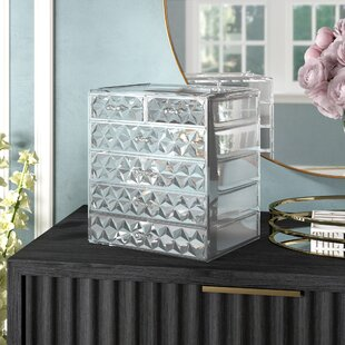 Check Prices Whisnant Diamond Pattern Makeup Cosmetic Organizer ByWilla Arlo Interiors