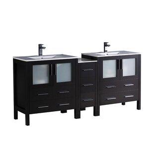 Torino 72 Double Bathroom Vanity Set By Fresca
