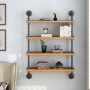 Adam 4 Tier Industrial Pipe Wall Shelf
