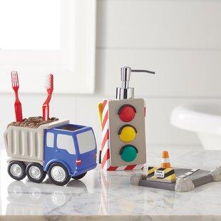 Find the perfect Kaylie Trucks 3 Piece Bathroom Accessory Set ByZoomie Kids