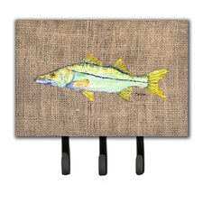 Snook Fish Leash Holder and Key Hook by Caroline's Treasures