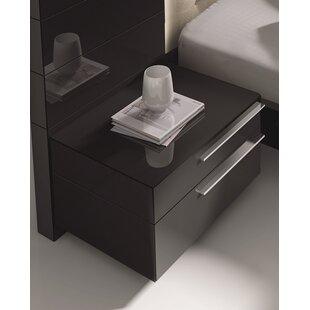 Callimont Contemporary 2 Drawer Nightstand