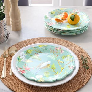 Hedin Spring Chinoiserie Melamine Salad Plate (Set of 6)