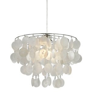 Capiz shell chandelier wayfair capiz shell 35cm metal novelty pendant shade aloadofball Gallery