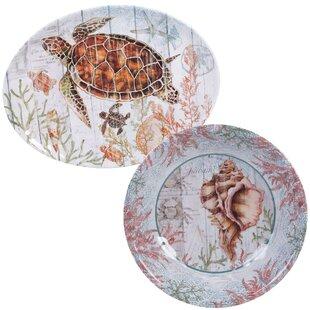 Higbee 2 Piece Melamine Platter Set
