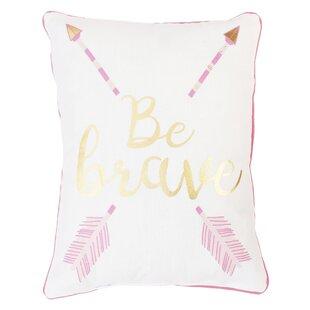 Una Be Brave and Kind Reversible Printed Lumbar Pillow