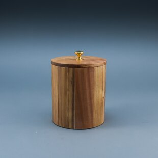 Everson Medium Acacia Wood Kitchen Canister