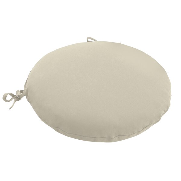 Knife Edge Outdoor Round Dining Chair Cushion With Ties