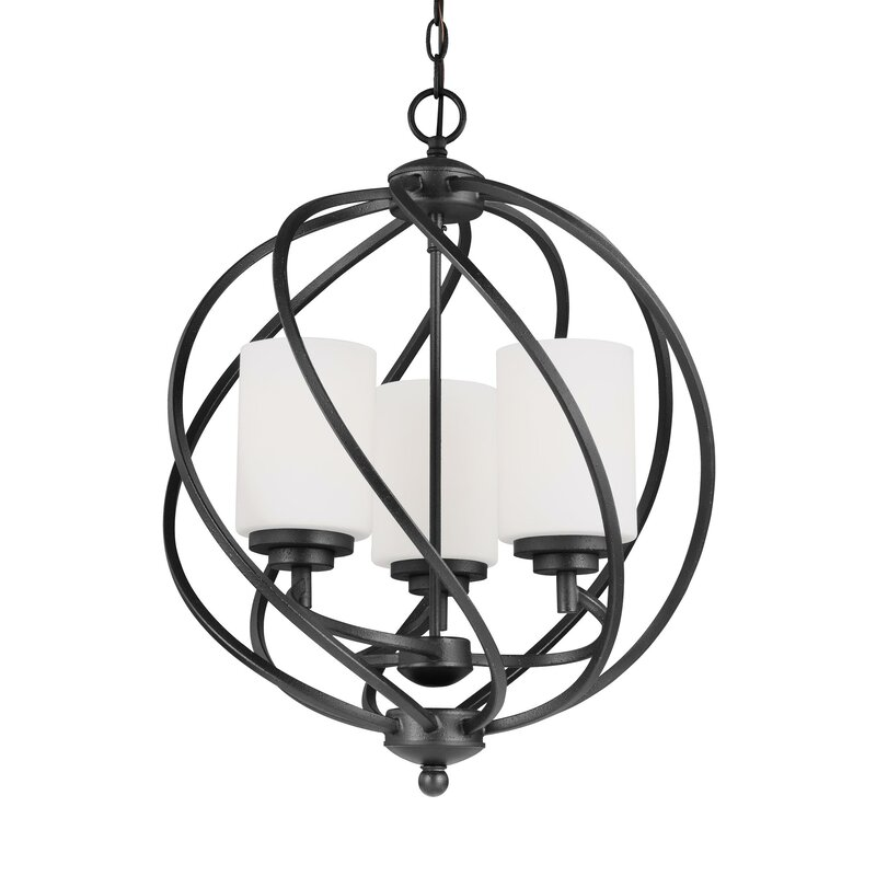 Brayden Studio Redington 3 Light Globe Chandelier Reviews