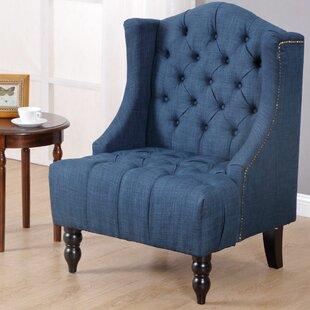 Where buy  Plott Modern Tall Wingback Chair by Charlton Home