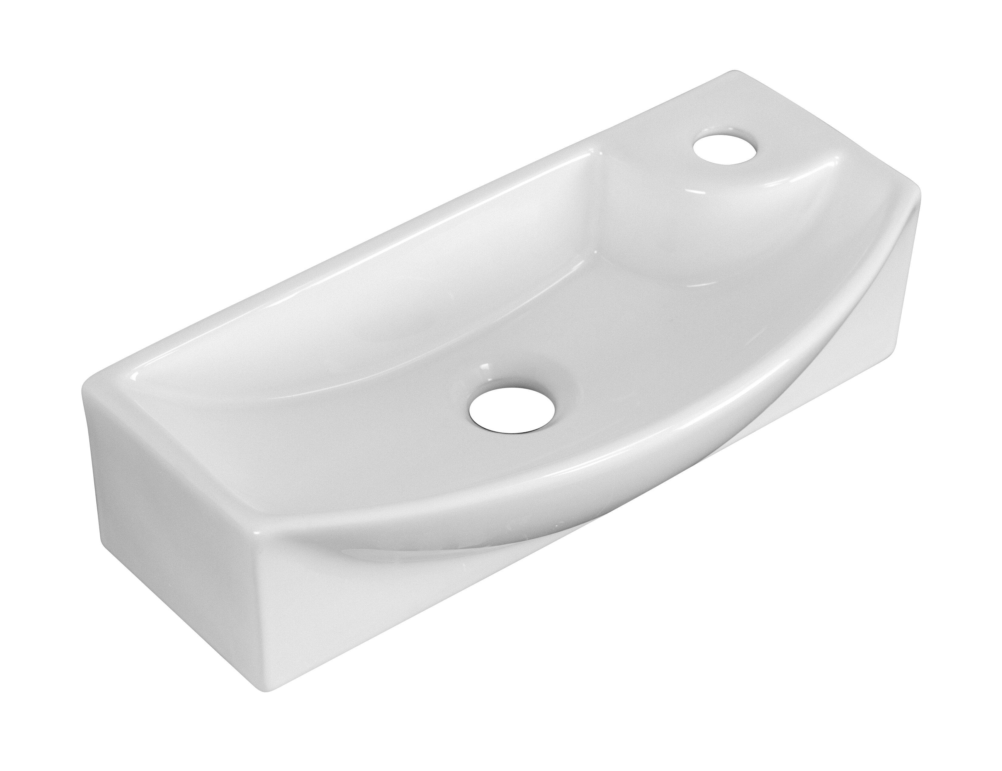 Avanities Ceramic 18 Wall Mount Bathroom Sink With Overflow Wayfair