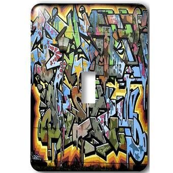 3drose Graffiti Art In Rainbows 1 Gang Toggle Light Switch Wall Plate Wayfair