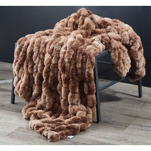 Tan Faux Fur Throw Wayfair