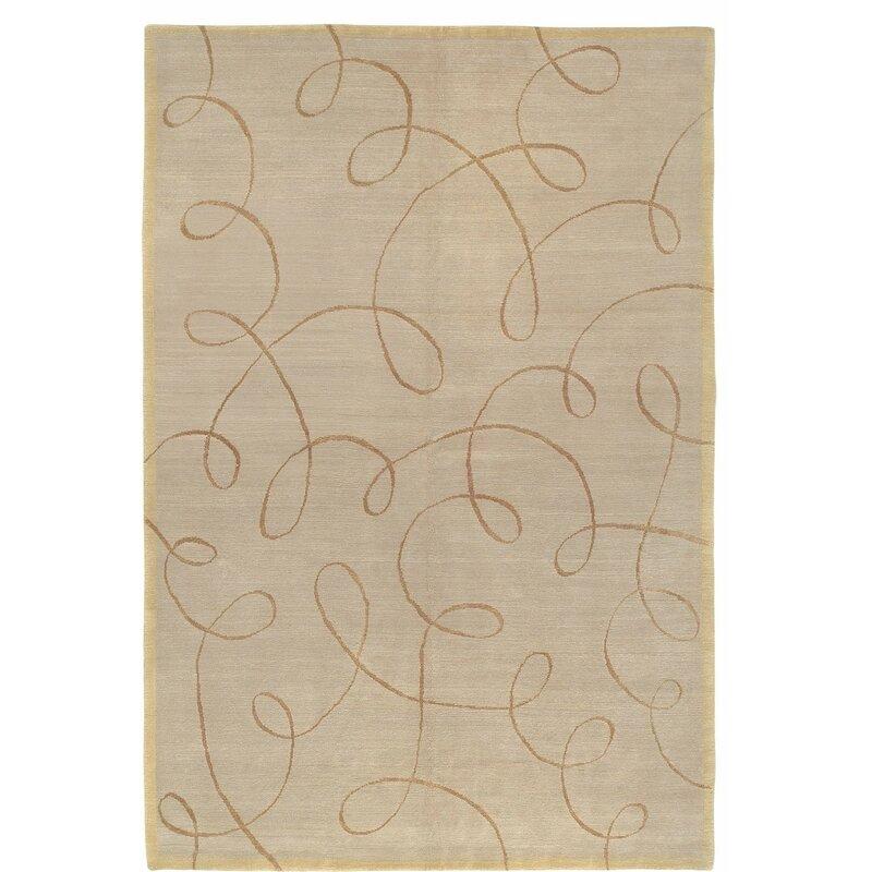 Tufenkian Waltz Abstract Hand Knotted Wool Silk Beige Area Rug Wayfair