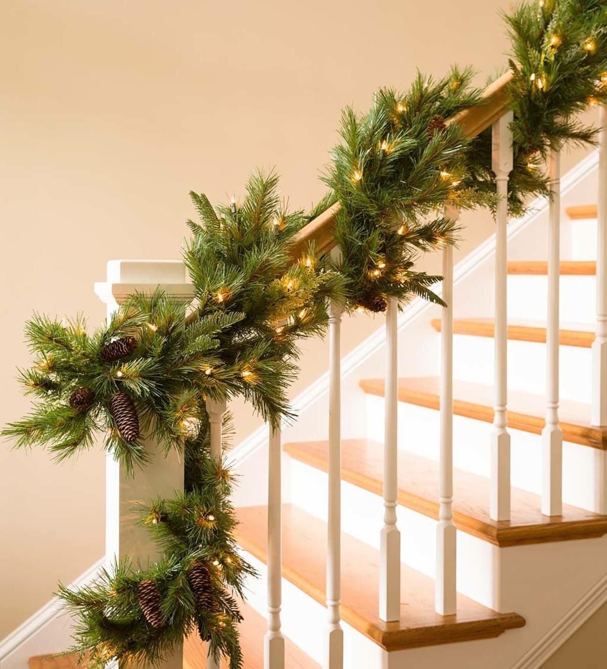 72 Mixed Cedar Faux Greenery Christmas Garland