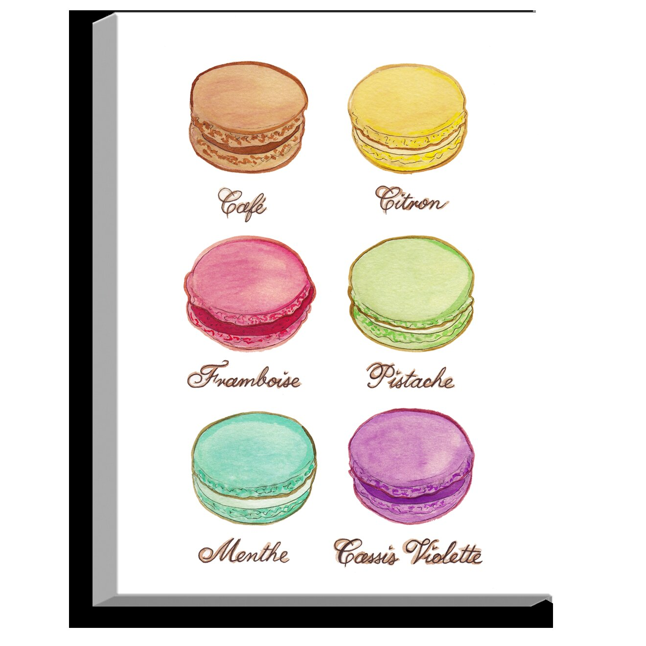 Dianochedesigns Laduree Macaroons I By Diana Evans Painting Print On Wrapped Canvas Wayfair