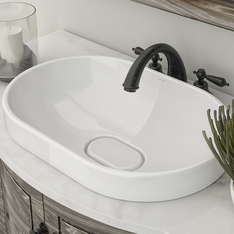 Primrose Classically Redefined Ceramic Oval Vessel Bathroom Sink