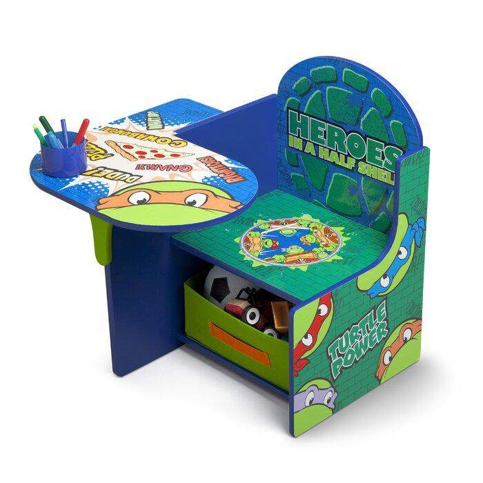 Wondrous Ninja Turtles Kids Chair Desk With Cup Holder Ibusinesslaw Wood Chair Design Ideas Ibusinesslaworg